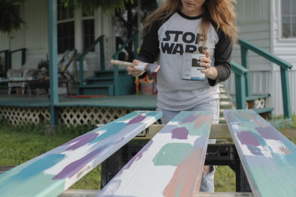 resident artist erika rachel painting